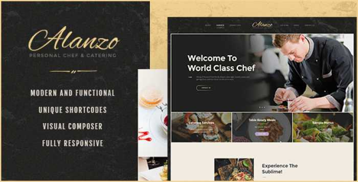 ALANZO V1.0 – PERSONAL CHEF & CATERING WORDPRESS THEME