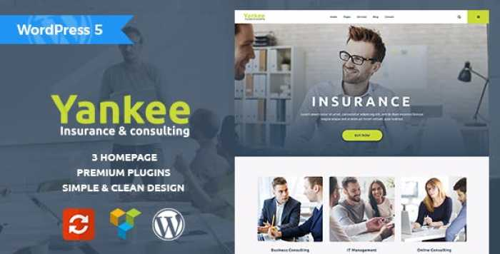 YANKEE V1.1.1 – INSURANCE & CONSULTING WORDPRESS THEME