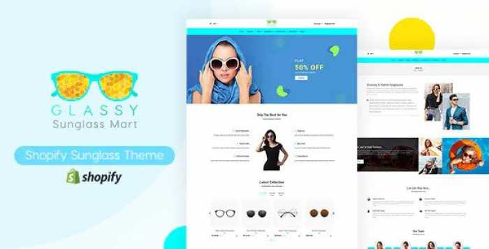 GLASSY V1.0 – SUNGLASSES, FASHION SHOPIFY THEME