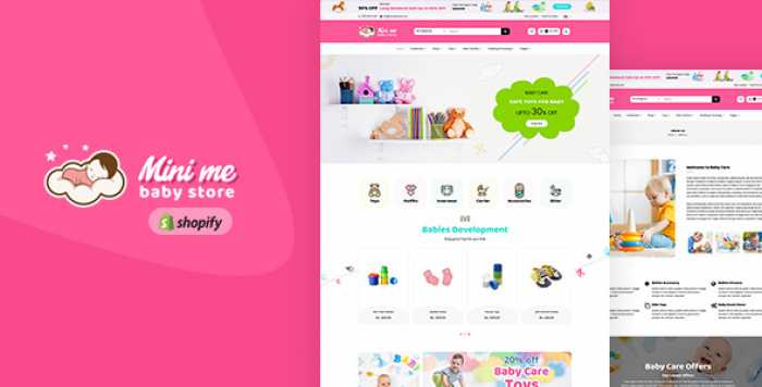 MINI ME V1.0 – BABY CARE PRODUCTS SECTIONED SHOPIFY THEME