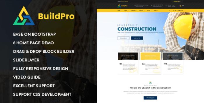 BUILDPRO – CONSTRUCTION DRUPAL 8.6 THEME