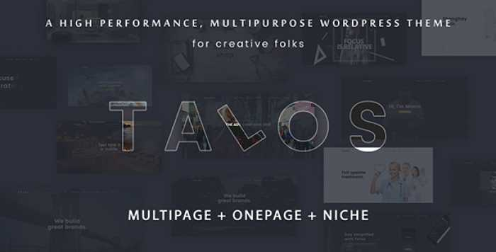 TALOS V1.3.0 – CREATIVE MULTIPURPOSE WORDPRESS THEME