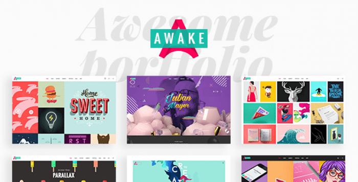AWAKE V1.3 – A VIBRANT AND FRESH PORTFOLIO THEME