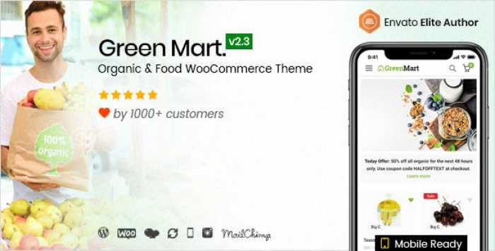 GREENMART V2.3.1 – ORGANIC & FOOD WOOCOMMERCE WORDPRESS THEME