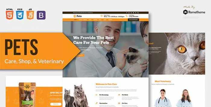 PETS – PET CARE, SHOP, AND VETERINARY HTML TEMPLATE