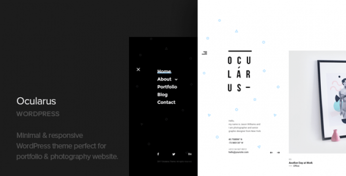OCULARUS V1.2 – MINIMAL PHOTOGRAPHY WORDPRESS THEME
