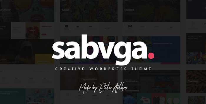 SABVGA V1.1 – MODERN & CREATIVE PORTFOLIO THEME