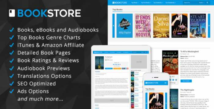 BookStore v1.3 – Books, eBooks and Audiobooks Affiliate Script