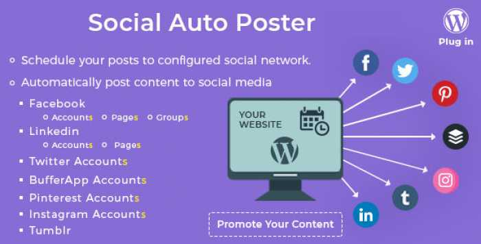 Social Auto Poster v2.9.7 - WordPress Plugin