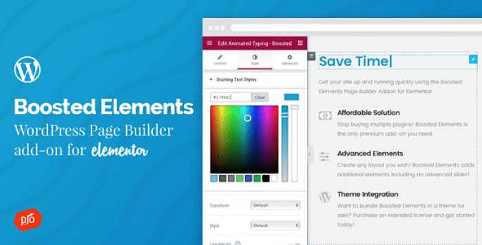 Boosted Elements v2.0 – Add-on for Elementor