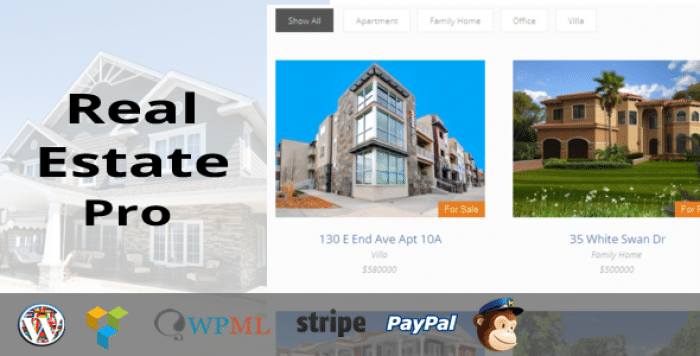 Real Estate Pro v1.4.2 – WordPress Plugin