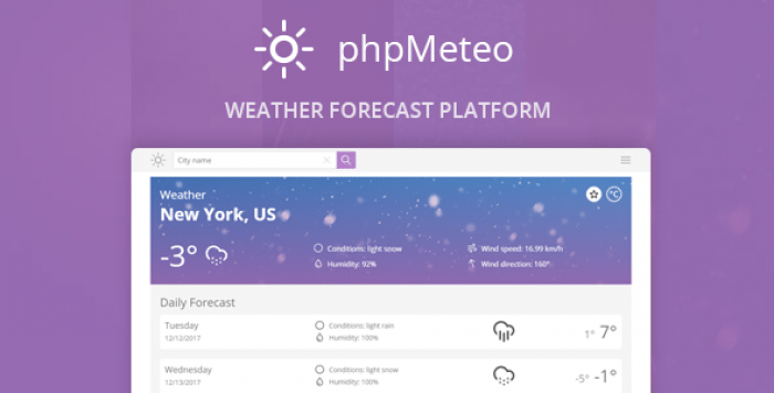 phpMeteo v2.0 – Weather Forecast Platform