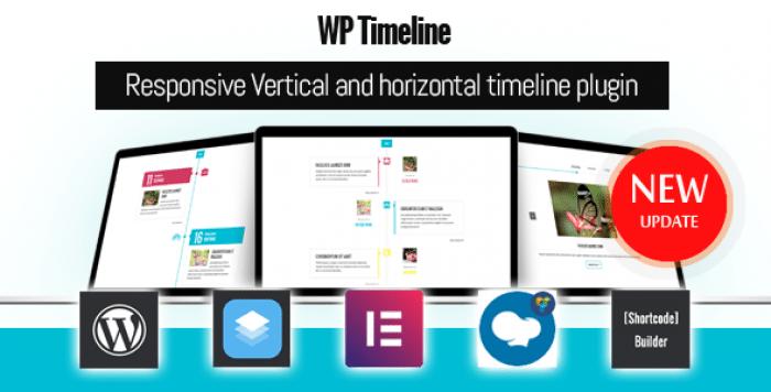 WP Timeline v3.3.1 - Responsive Vertical and Horizontal timeline plugin