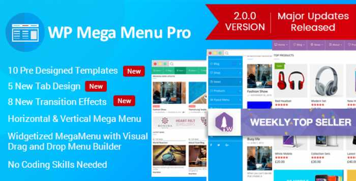WP Mega Menu Pro v2.0.0 – Responsive Mega Menu Plugin