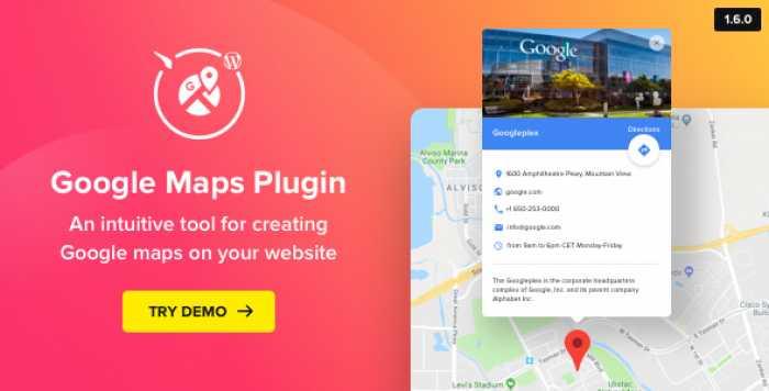 WP Google Maps v1.6.0 – Map Plugin for WordPress