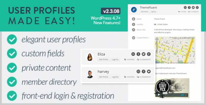 User Profiles Made Easy v2.3.08 – WordPress Plugin