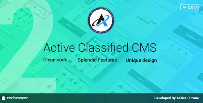 Active Classified CMS v2.0.0 – nulled