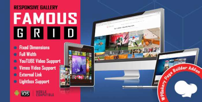 Famous v1.0 – Responsive Image & Video Grid Gallery for VC