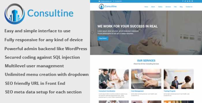 Consultine v1.3 – Consulting, Business and Finance Website CMS