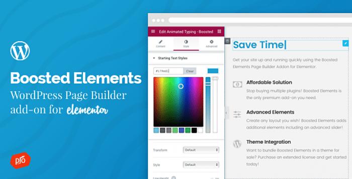 Boosted Elements v2.2 – Builder Add-on for Elementor