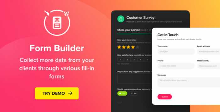 Form Builder v1.1.1 – WordPress Form plugin