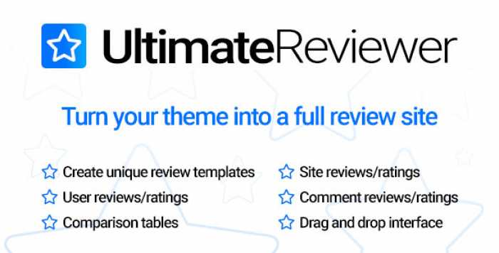 Ultimate Reviewer WordPress Plugin v1.0.0