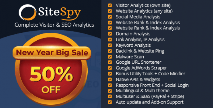 SiteSpy v5.0.1 - The Most Complete Visitor Analytics & SEO Tools