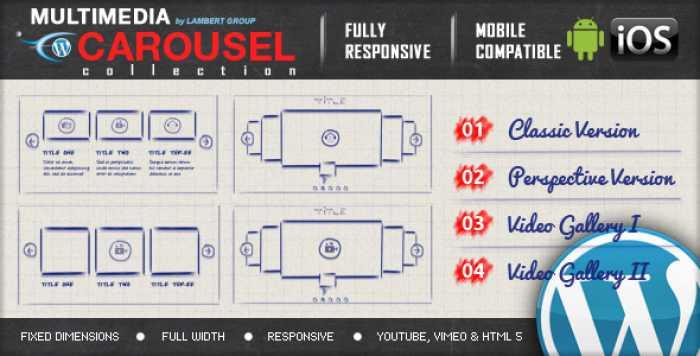 Multimedia Responsive Carousel v1.3.2