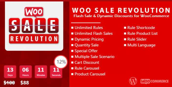 Woo Sale Revolution v3.0.1 – Flash Sale+Dynamic Discounts