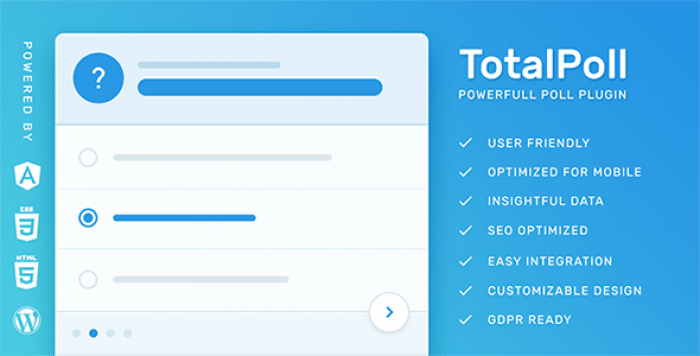 TotalPoll Pro v4.0.4 – WordPress Poll Plugin