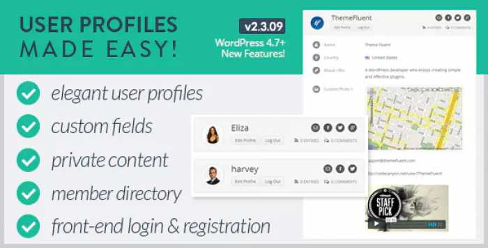 User Profiles Made Easy v2.3.09 – WordPress Plugin