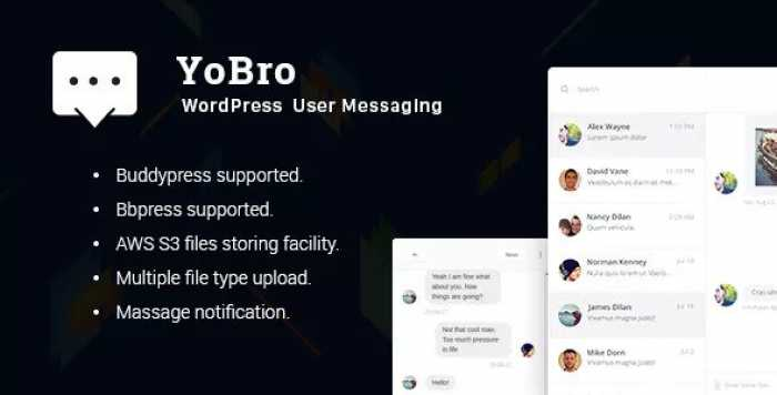 YoBro v2.0 – WordPress Private Messaging Plugin