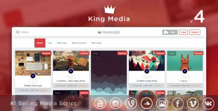 King Media v4.1 – Viral Video, News, Image Upload and Share – nulled