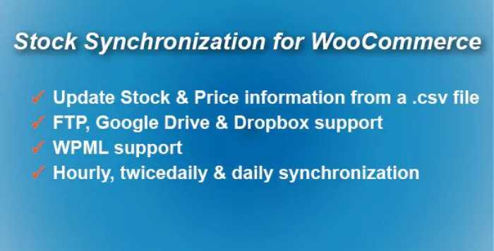 Stock Synchronization for WooCommerce v1.4.3