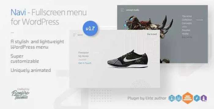 Navi v1.7 – Fullscreen WordPress Menu