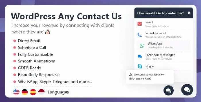 WordPress Any Contact Us v1.0.4