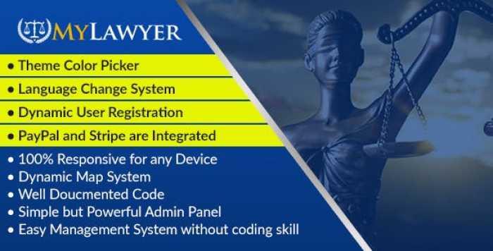MyLawyer v1.0 – Dynamic Lawyer Directory System Script – nulled