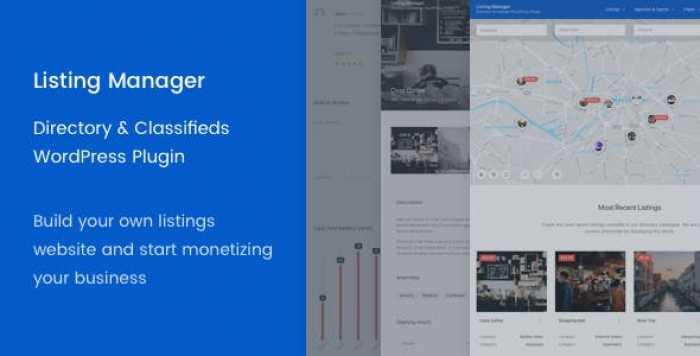 Listing Manager v2.5.15 – WordPress Directory Plugin