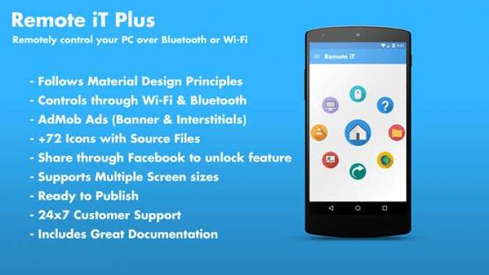 Remote iT Plus 2.0 - Control your PC + Admob + Share