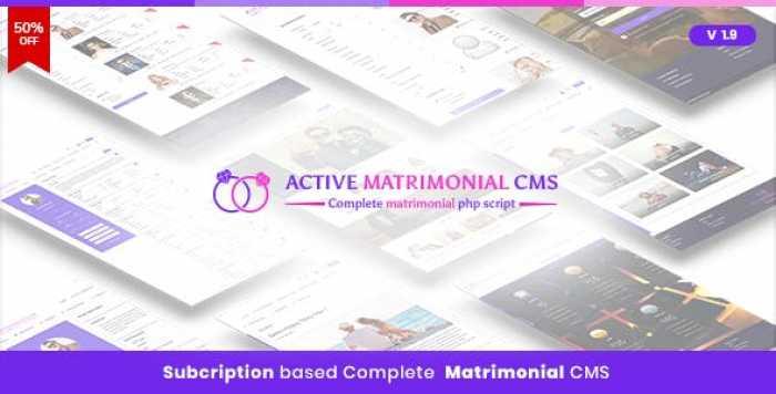 Active Matrimonial CMS v1.9
