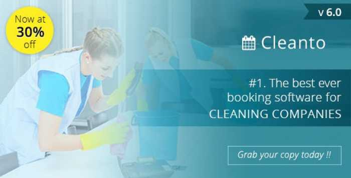 Cleanto v6.0 - software with booking system for cleaner service companies - nulled