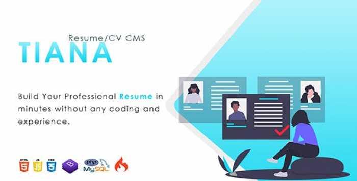 Tiana v1.0 - Resume/CV CMS